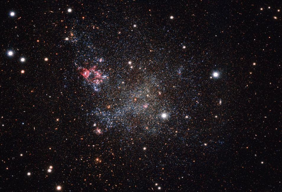IC 1613. Afbeelding: ESO.