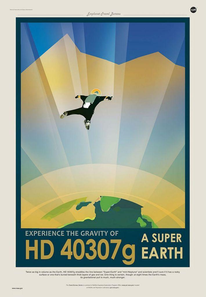 De zwaartekracht is heftig op HD 40307g. Afbeelding: NASA / JPL.