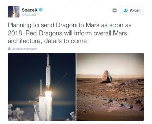 Aankondiging van SpaceX