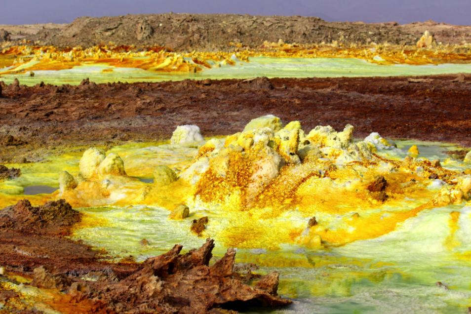 Een hydrothermale bron. Afbeelding: Felipe Gomez / Europlanet 2020 RI.