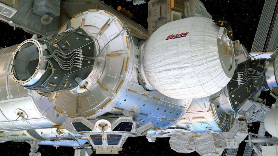 Artistieke impressie van hoe de ruimtetent er uit gaat zien.