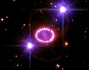 In 1987 ontplofte er een ster in de Grote Magellaanse Wolk, een satellietstelsel van de Melkweg. Deze supernova - SN 1987A - was met het blote oog zichtbaar.