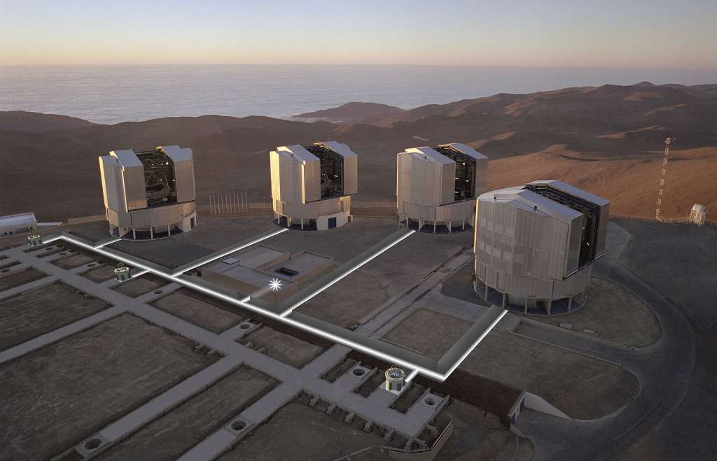 De Very Large Telescope in Chili. Afbeelding: ESO.