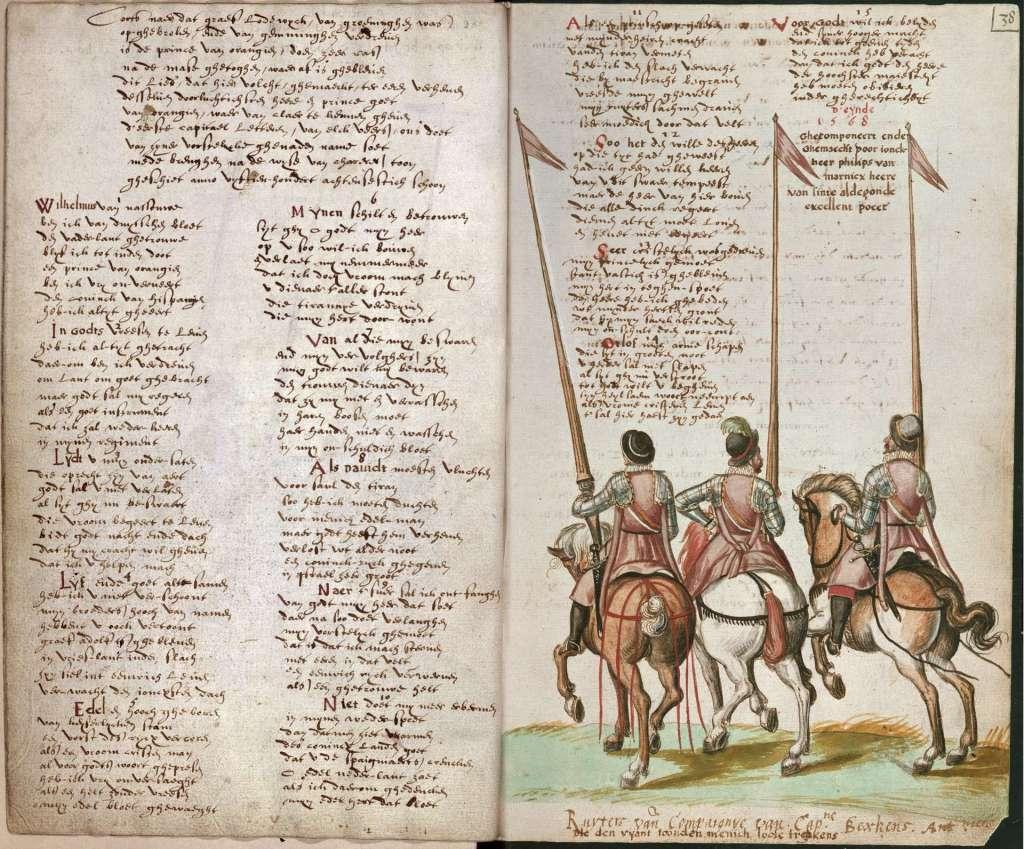 De oudste nog bestaande publicatie van het Wilhelmus.