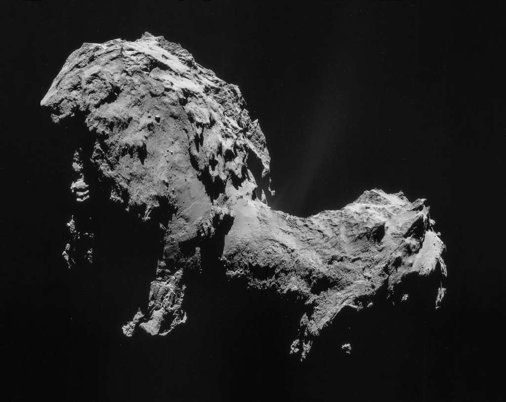 Komeet 67P/C-G. Afbeelding: ESA / Rosetta / NAVCAM.