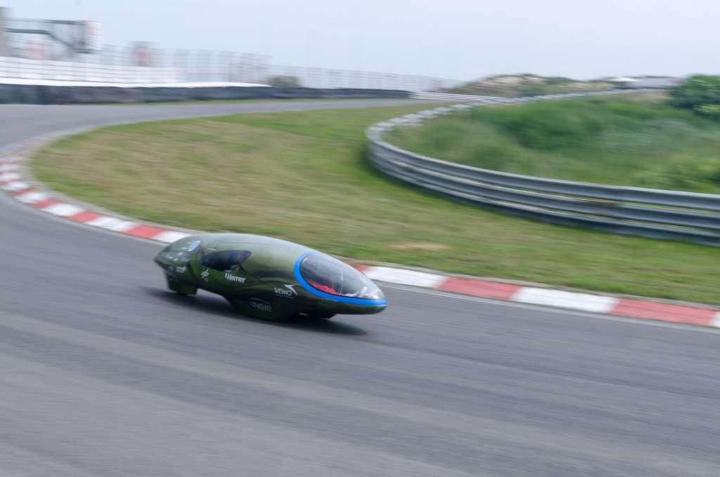 De Ecorunner tijdens een test in Zandvoort. Afbeelding: Ecorunner Team Delft.