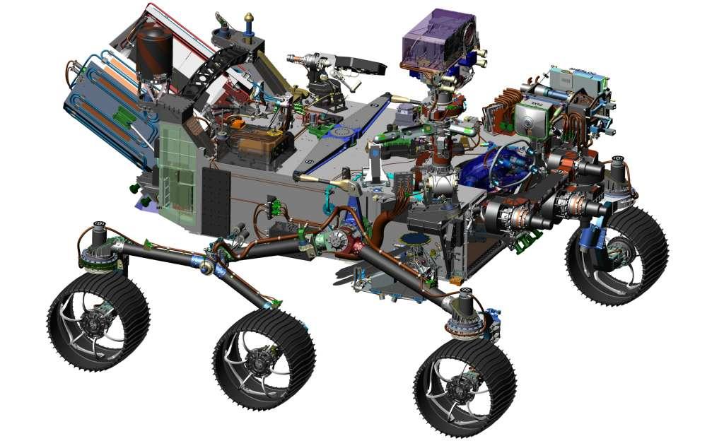 De nieuwe Marsrover. Afbeelding: NASA / JPL-Caltech.