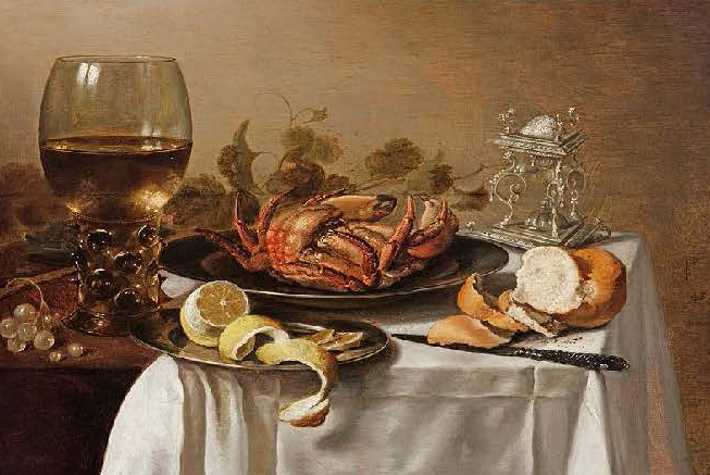 Een schilderij van Pieter Claesz, een kunstschilder die geboren werd in Antwerpen, maar werkte in Haarlem.