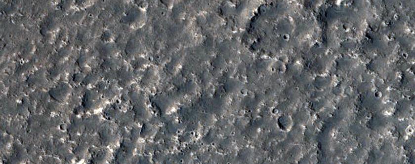 De mogelijke landingsplek voor InSight: een marslander die in 2018 wordt gelanceerd en onder meer een kijkje onder het oppervlak van Mars zal gaan nemen. Afbeelding: NASA / JPL / University of Arizona.
