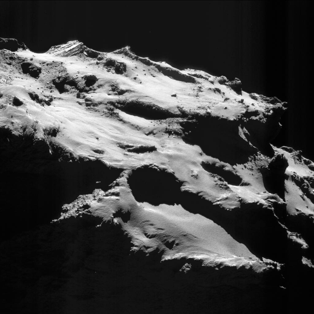 De landingsplek van Rosetta. Afbeelding: ESA / Rosetta / NAVCAM.