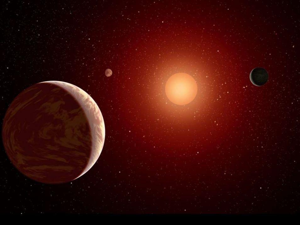 Artistieke impressie van de TRAPPIST 1-exoplaneten.