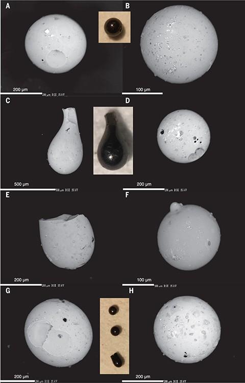 Deze bolletjes troffen de onderzoekers aan.