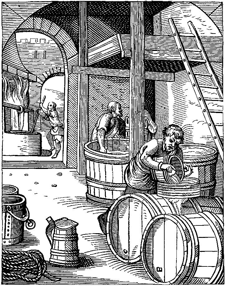Een brouwerij in de zestiende eeuw.