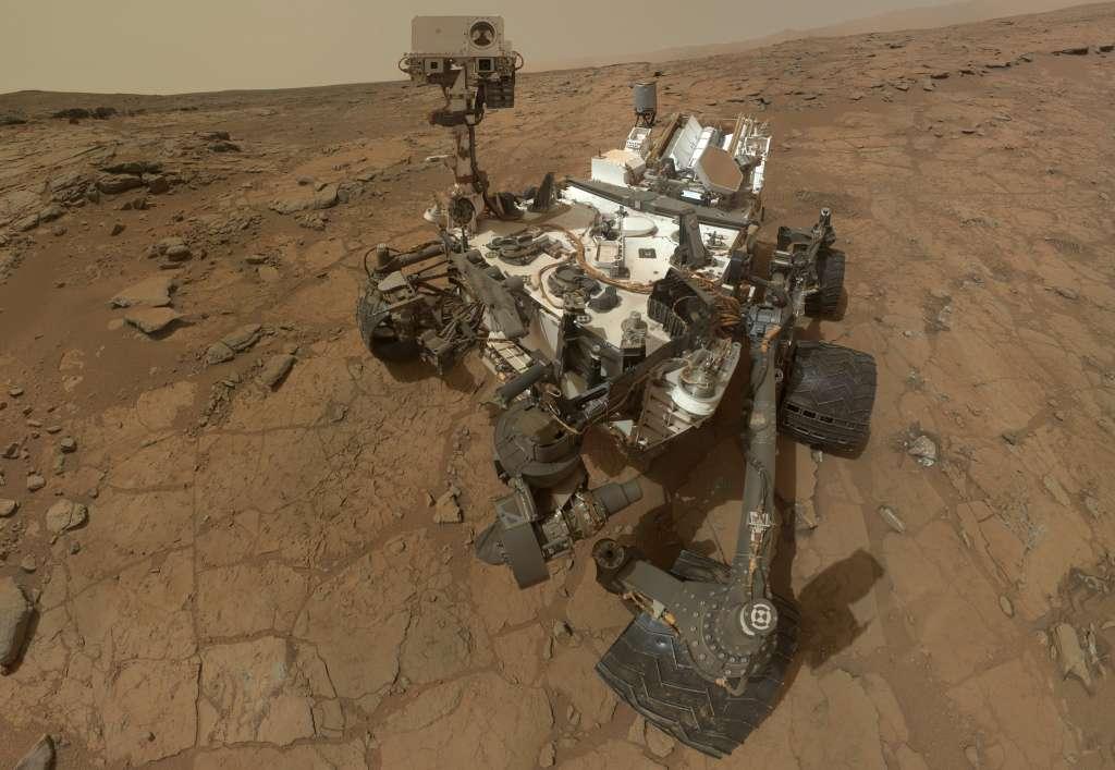Marsrover Curiosity. Afbeelding: NASA.