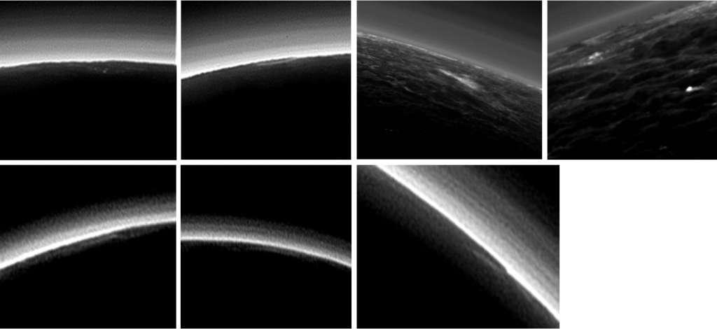 Mogelijke wolken in de atmosfeer van Pluto. Afbeelding: NASA / JHUAPL / SwRI.