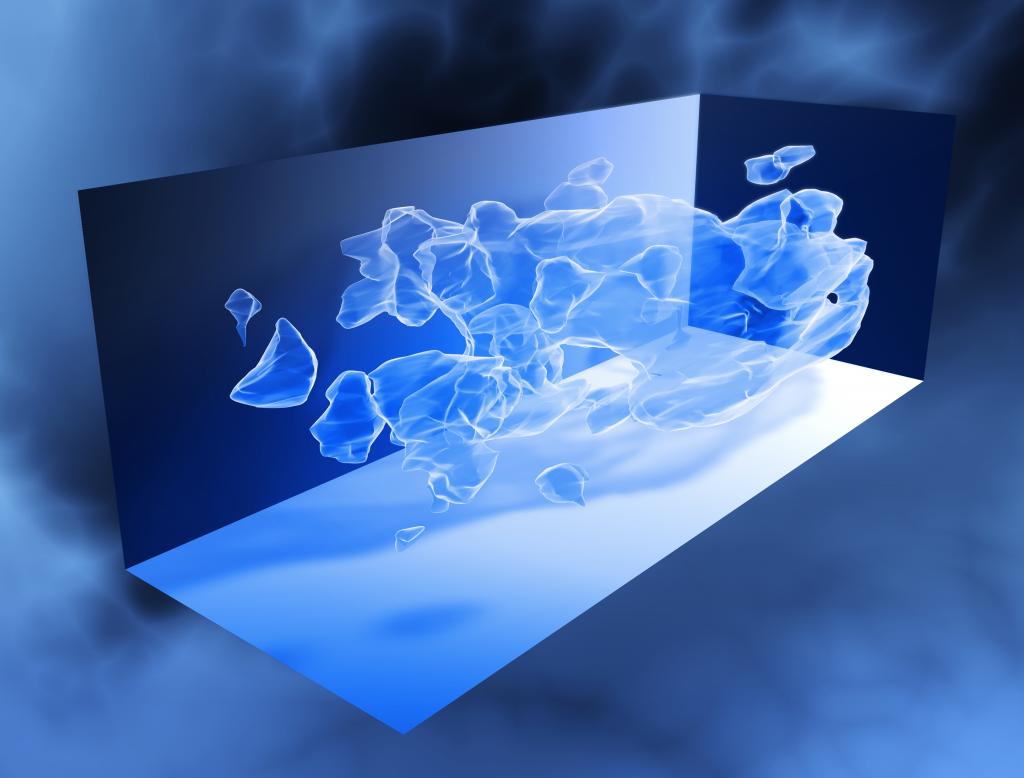 Hier zie je een 3D-kaart van de distributie van donkere materie. Afbeelding: NASA / ESA / Richard Massey (California Institute of Technology).