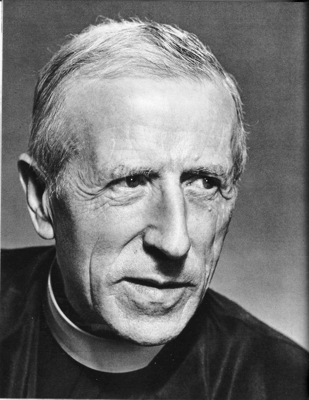 Pierre Teilhard de Chardin in 1955. Afbeelding: via Wikipedia.