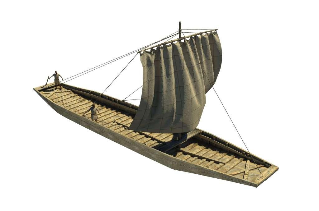 Reconstructietekening van de Zwammerdam 2. Afbeelding: Mikko Kriek / Hazenberg Archeologie.