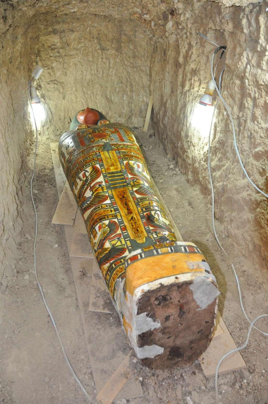 De sarcofaag. Afbeelding: Egyptische Ministerie van Oudheden.