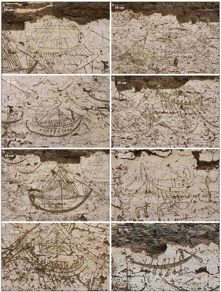 Tekeningen op de noordelijke wand van de tombe. Afbeelding: