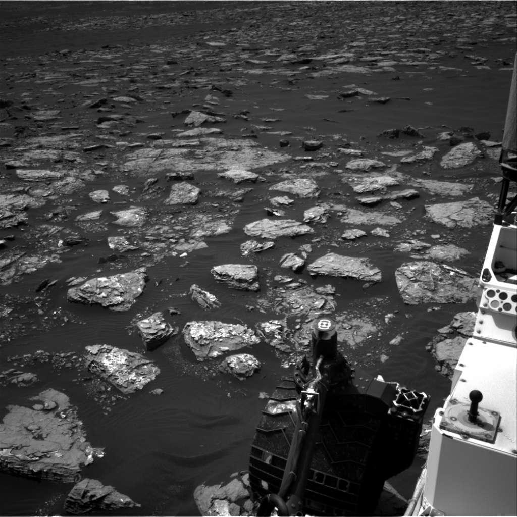 Curiosity bevindt zich op dit moment in de onderste regionen van Mount Sharp. Afbeelding: NASA / JPL-Caltech.