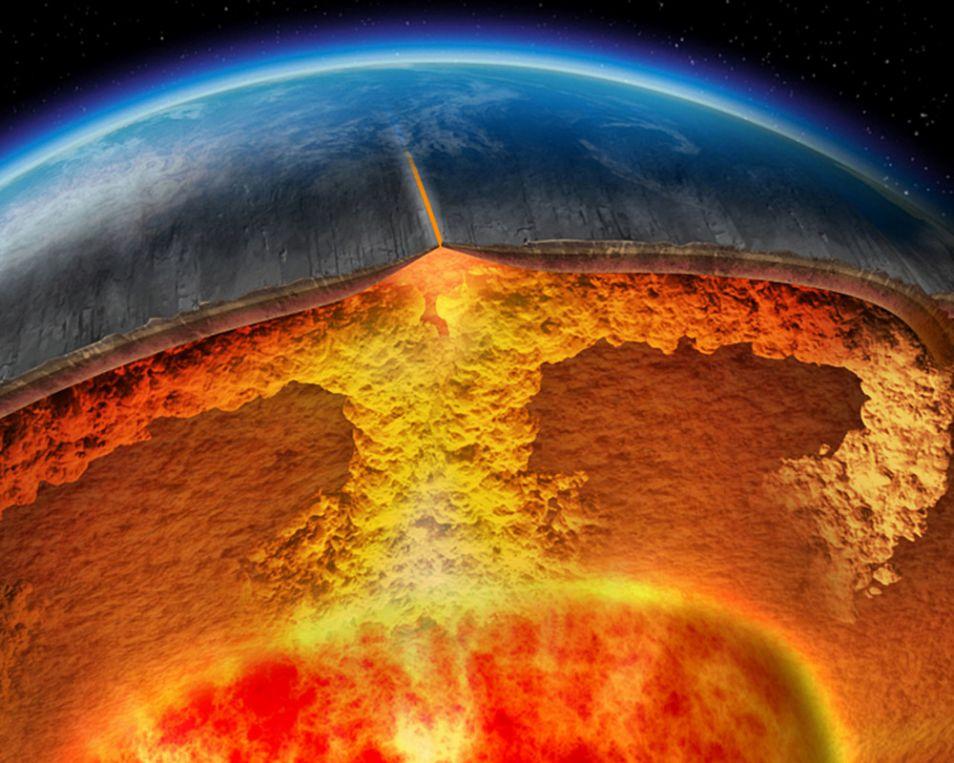 Wereldwijd zijn er zo'n veertig supervulkanen. De caldera van Yellowstone getuigt van een superuitbarsting 640.000 jaar geleden.