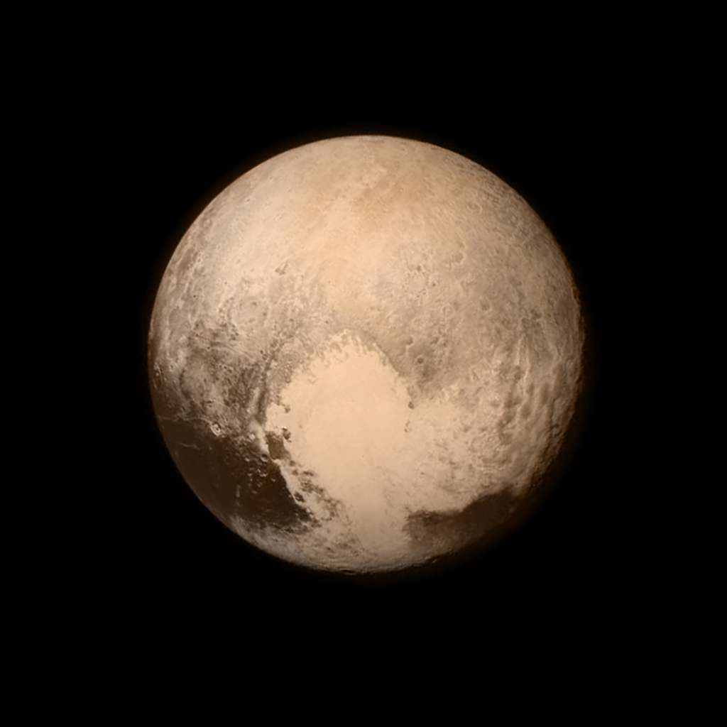 Het hart van Pluto. Afbeelding: NASA / APL / SwRI.