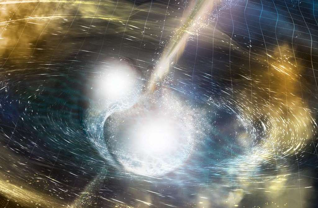 Voor het eerst zwaartekrachtsgolven van botsende neutronensterren gedetecteerd