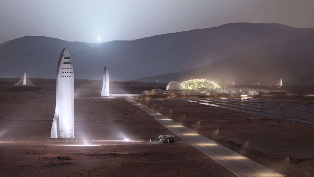 "Afbeelding: <a href=""https://www.spacex.com/mars"" rel=""noopener"" target=""_blank"">SpaceX</a>"