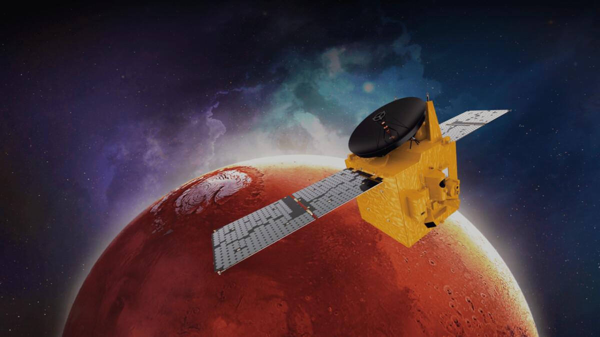 Marssonde van Verenigde Arabische Emiraten arriveert morgen bij de rode planeet - Scientias.nl