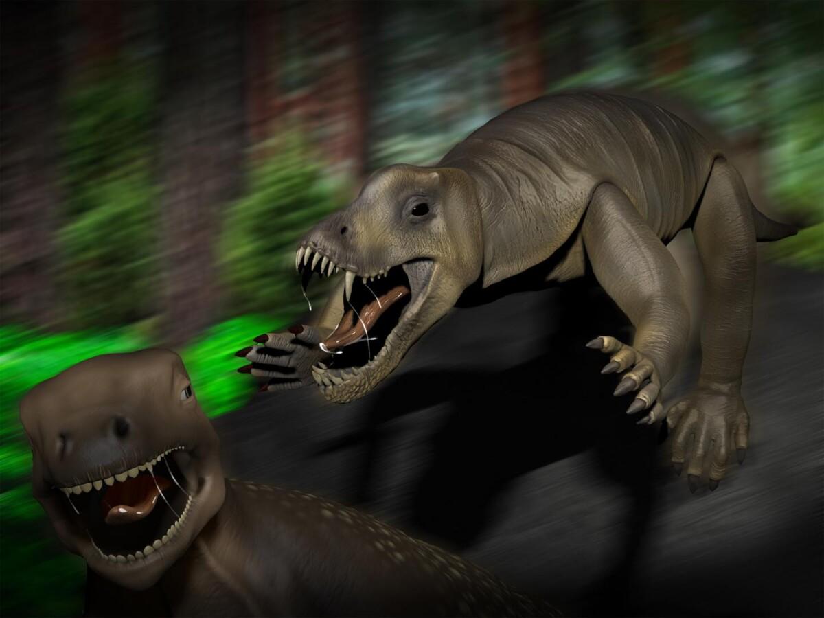 Voor dit prehistorische monster zou je graag een blokje om zijn gegaan - Scientias.nl